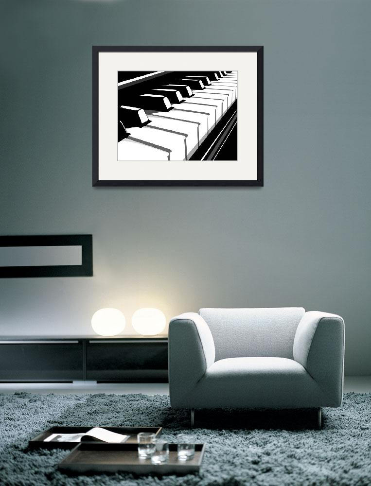 """Piano Keyboard no2&quot  (2010) by ModernArtPrints"