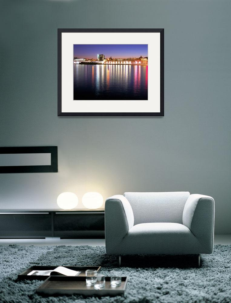 """Harbor at Night&quot  (2009) by Gables"