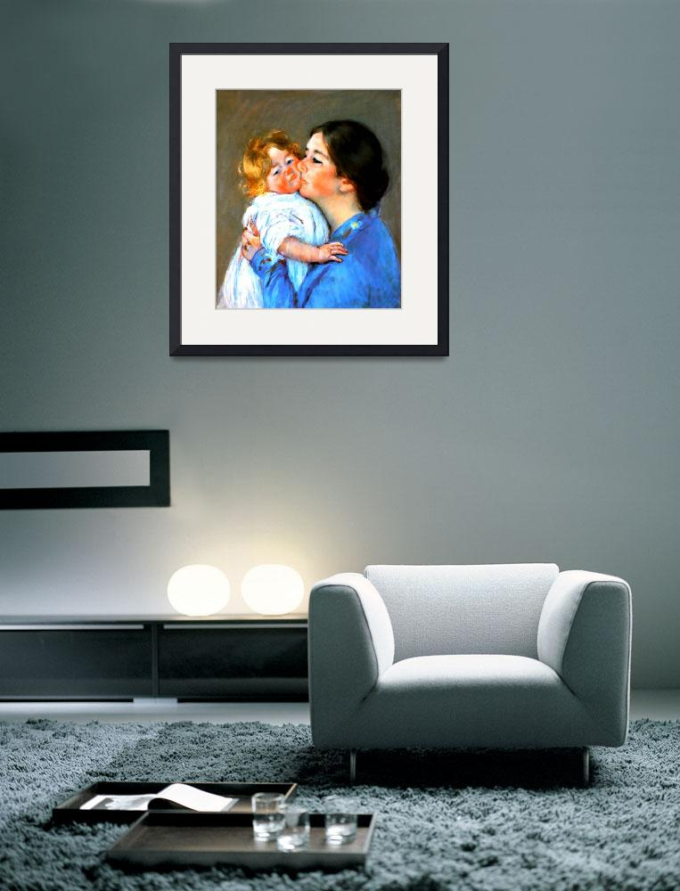 """A kiss for baby Anne&quot  (2011) by bandtdigitaldesigns"