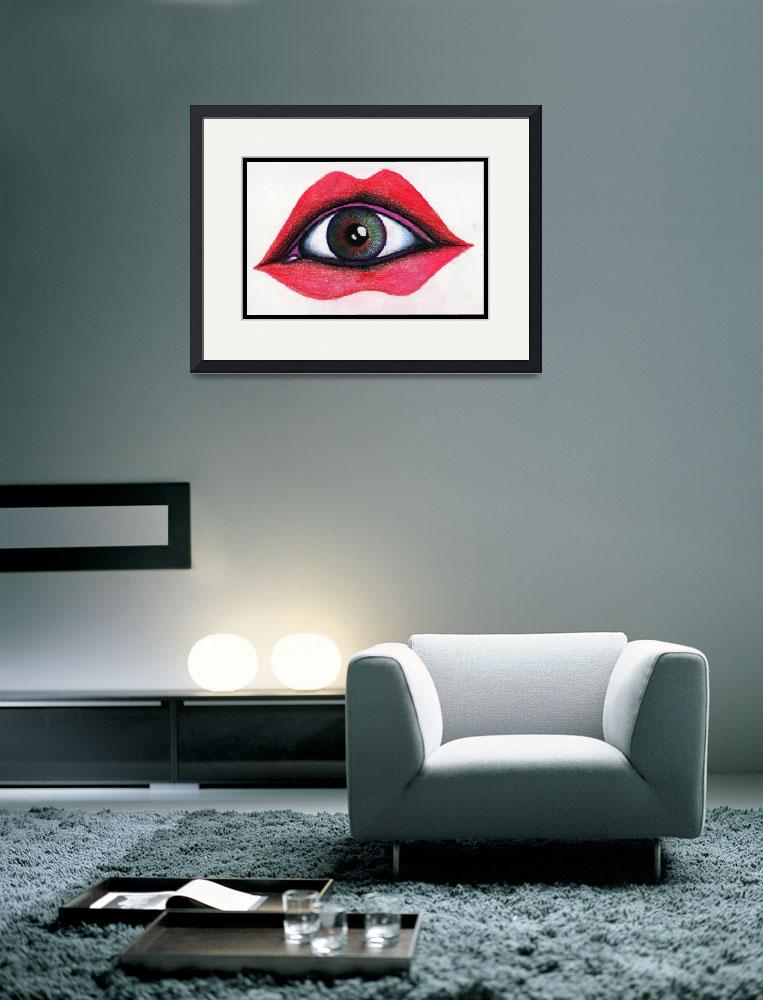 """Eye In Mouth&quot  (2011) by ArtByAlycia"