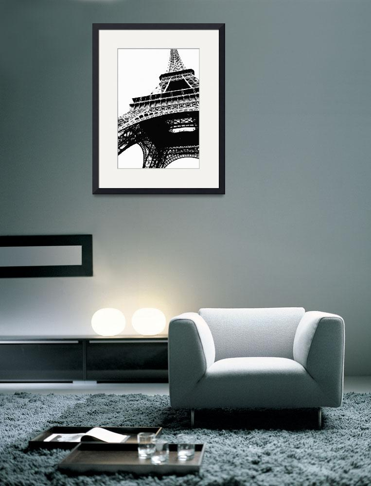 """Eiffel Tower Silhouette&quot  by Groecar"