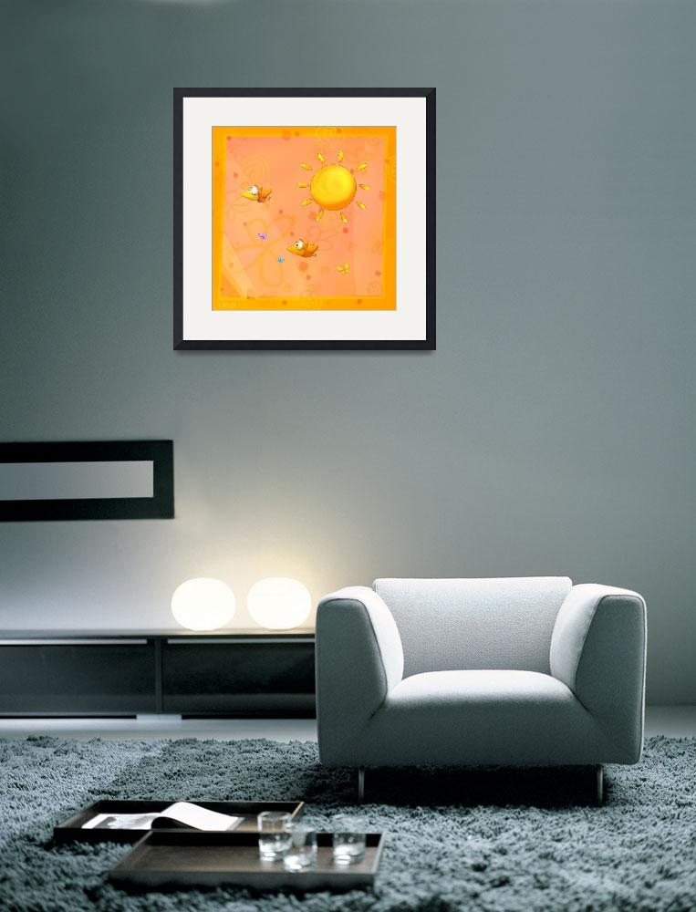 """Happy orange baby room - #2 quarter&quot  (2007) by Tooshtoosh"
