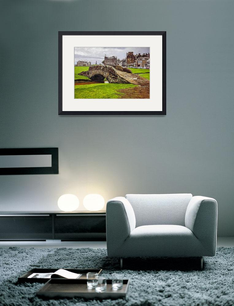 """St. Andrews Links Golf Course Swilcan Bridge 18th&quot  (2013) by Richimage"