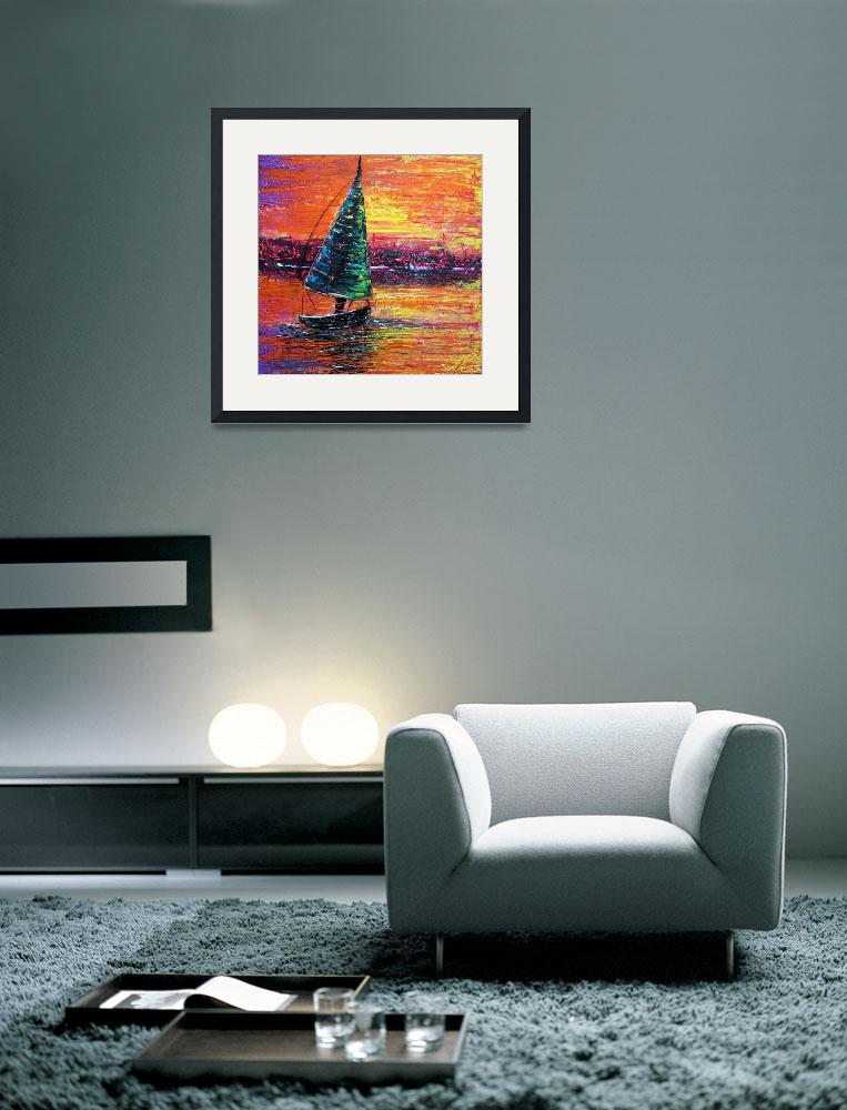 """Sailing at Sunset&quot  (2014) by ArtPrints"