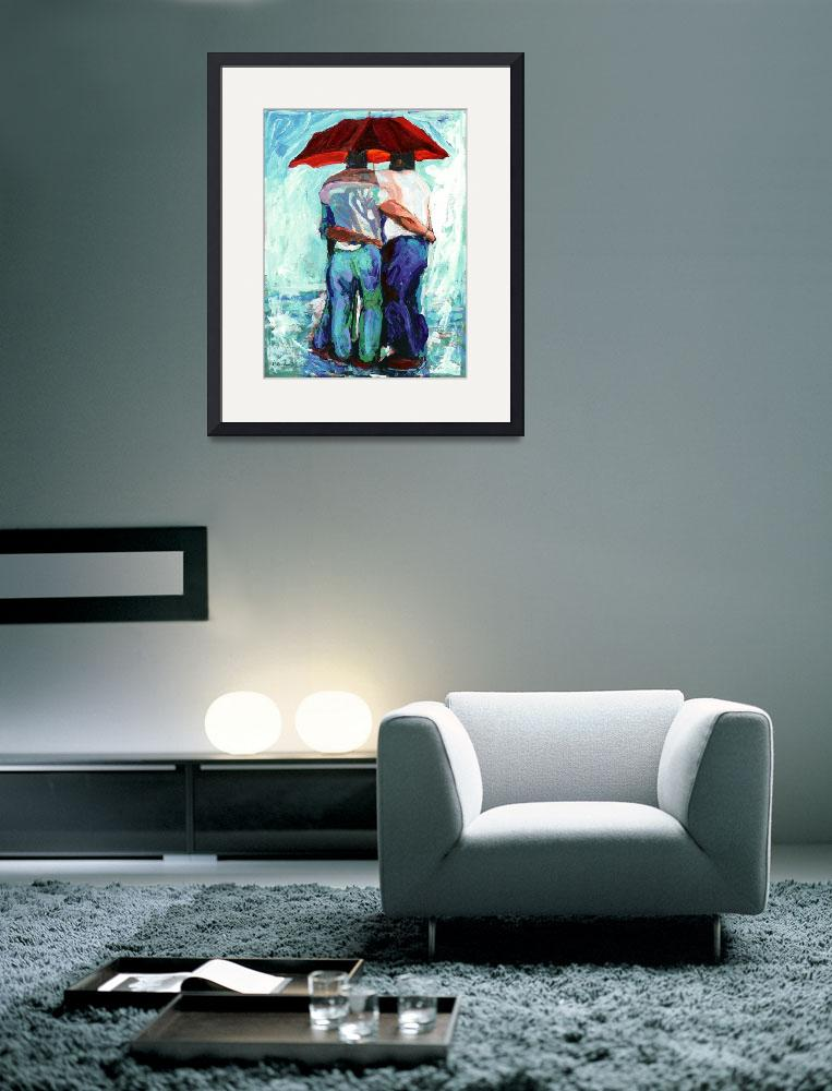 """Rain bears Under Red Umbrella&quot  (2006) by RDRiccoboni"