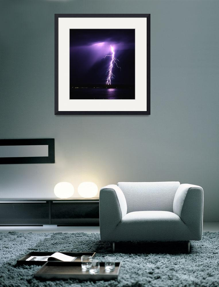 """Puget Sound Lightning 1&quot  (1996) by christopherboswell"