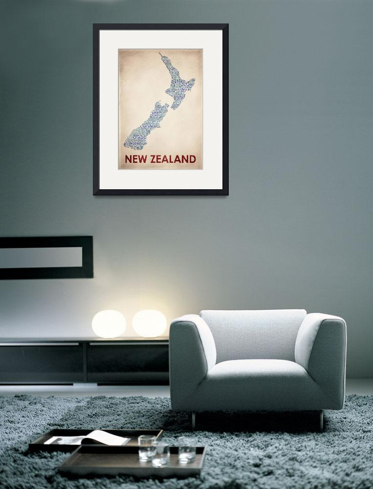 """New Zealand&quot  by artlicensing"