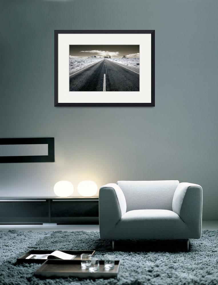 """Desert Highway - infrared landscape&quot  (2009) by miir"