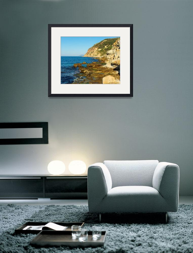 """Bau Rouge coastline - Provence&quot  (2008) by frenchlandscapes"