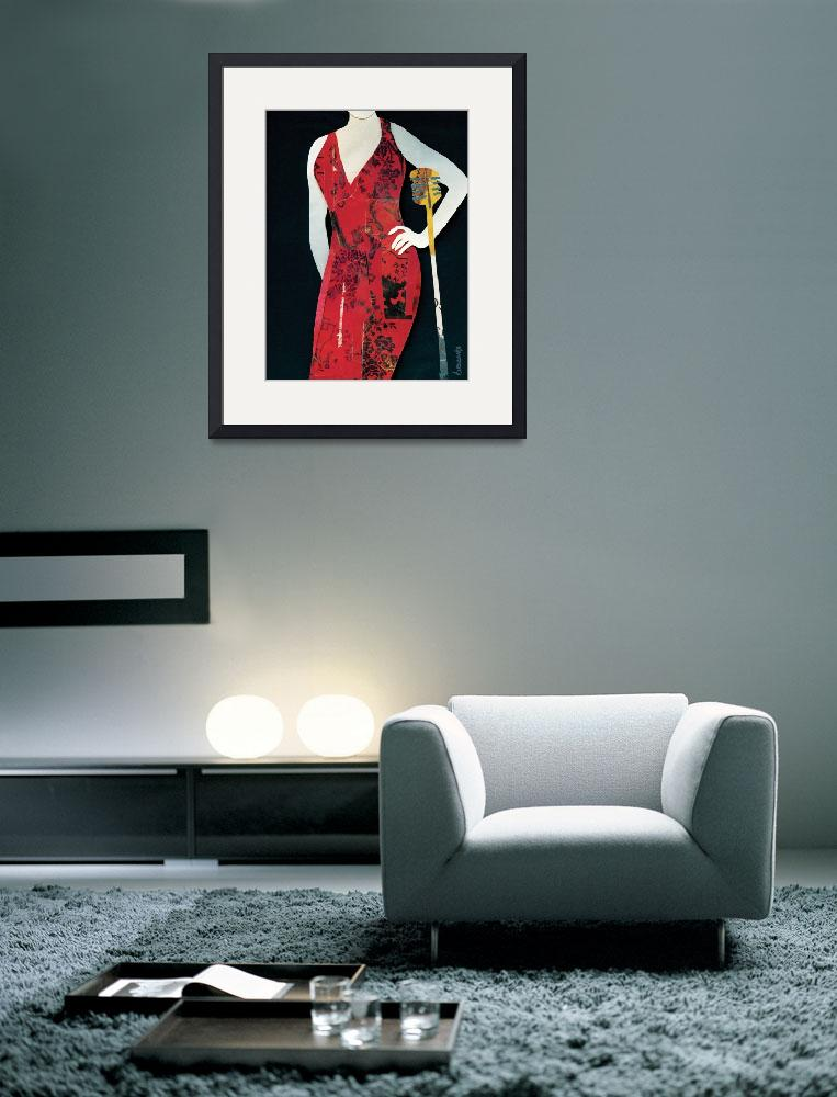 """Jazz Woman Red&quot  (2011) by waynebrezinka"