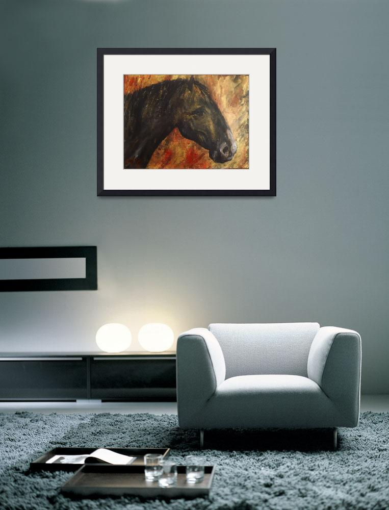 """black horse&quot  (2013) by gallerymay"