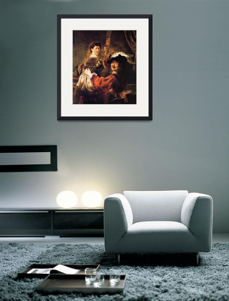 """Rembrandt and Saskia&quot  by ArtLoversOnline"