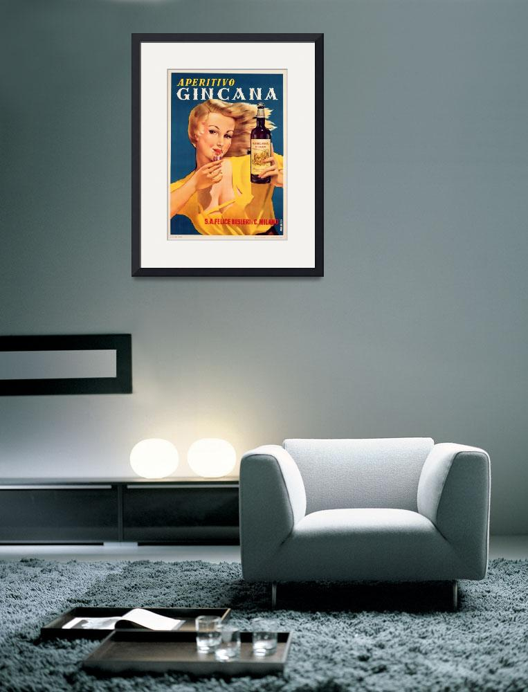 """Poster advertising Aperitivo Gincana&quot  by fineartmasters"