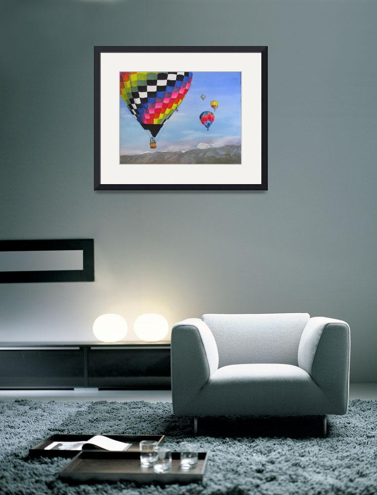 """Hot Air Balloon Race in the Colorado Rockies&quot  (2010) by vickeysart"