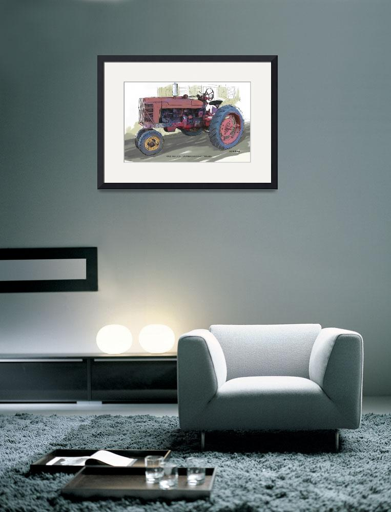 """Old Red Farmall Tractor&quot  (2013) by RGMcmahon"