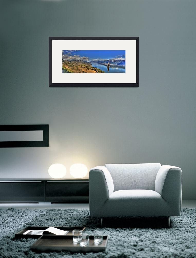 """0058 Columbia River Gorge Panoramic with Gull&quot  (2009) by vincentlouis"