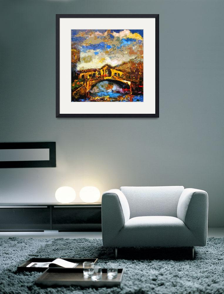 """Abstract Venice Rialto Bridge Italy Modern Decorat&quot  (2012) by GinetteCallaway"