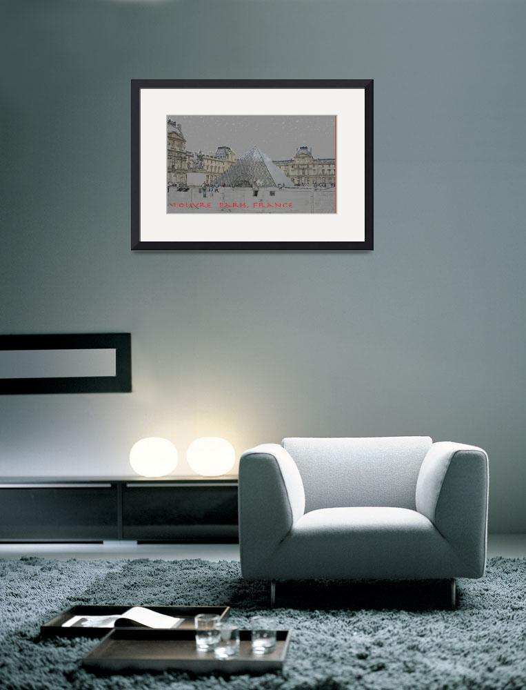 """louvre poster lg&quot  (2011) by peopleplus"