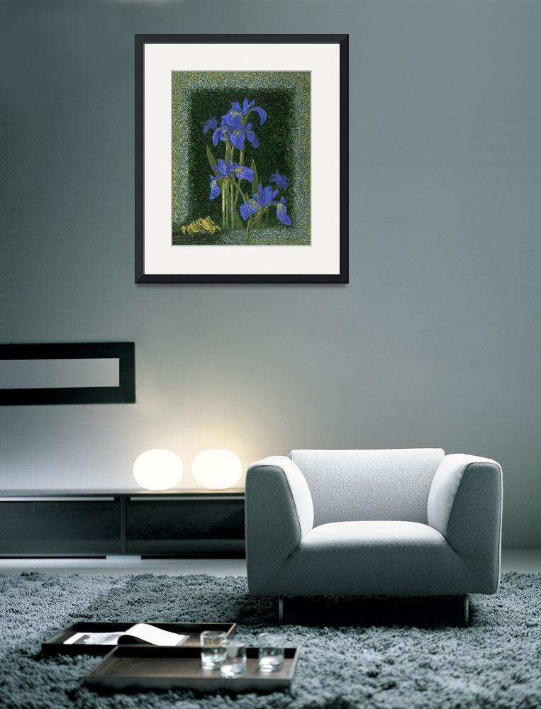"""Fine Art Prints Irises Flowers Iris Wall Art Frogs&quot  (2008) by BasleeTroutman"
