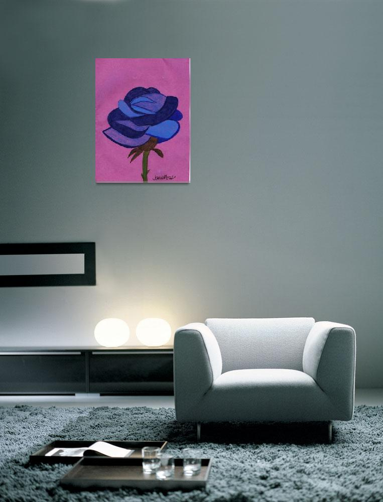 """Blue Rose on Purple&quot  (2009) by jmeraz"