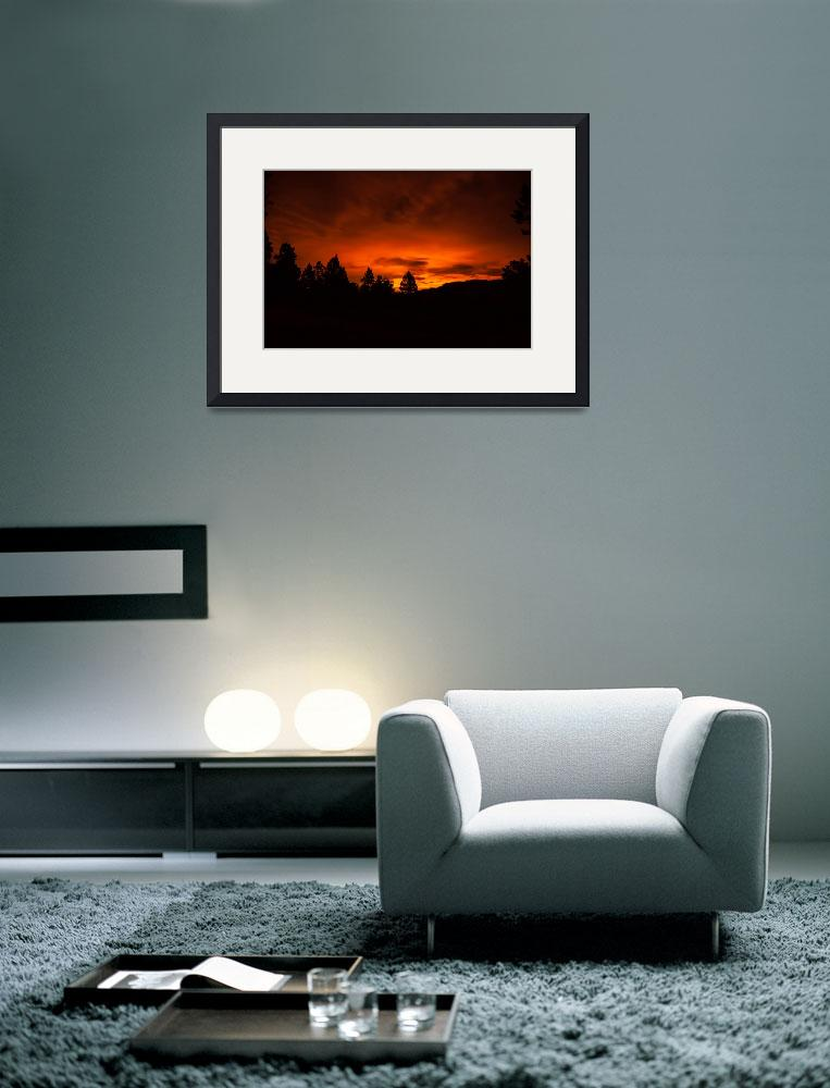 """Fiery Glow on the Horizon&quot  (2013) by DanBourque"