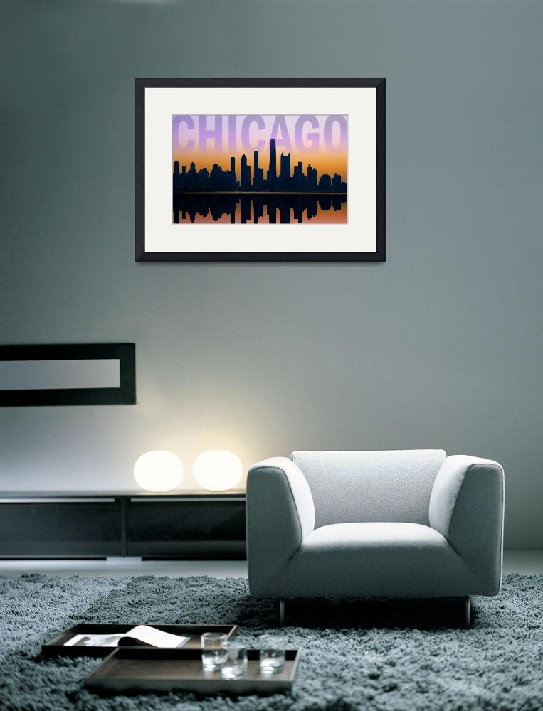 """Chicago Skyline Postcard&quot  (2011) by Dullinger"