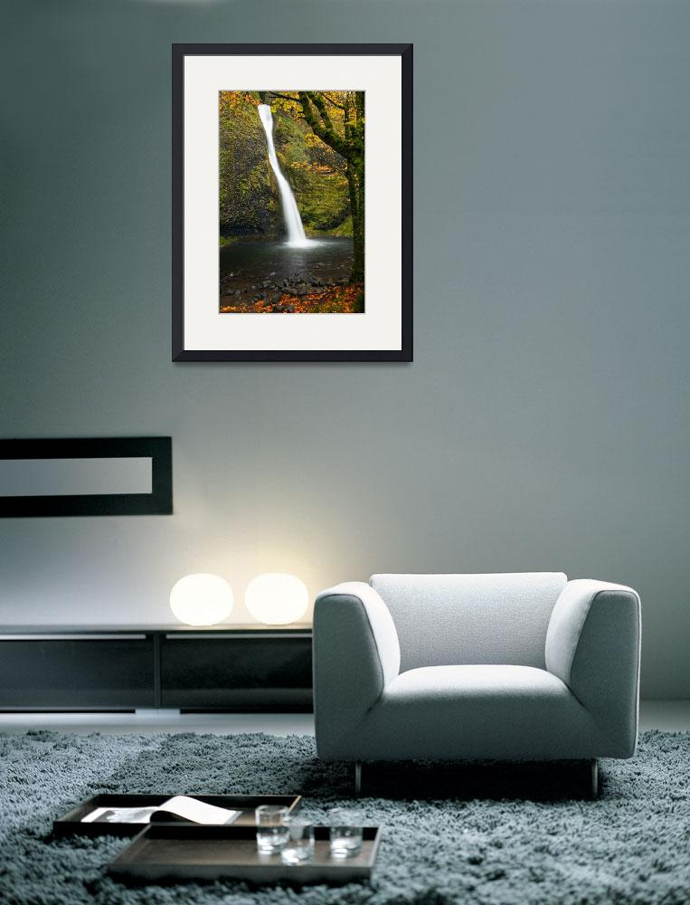 """Horsetail Falls Autumn&quot  (2010) by Dawsonimages"
