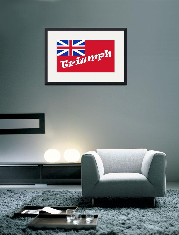 """British Red Ensign Truymph&quot  (2008) by bulldogblues"