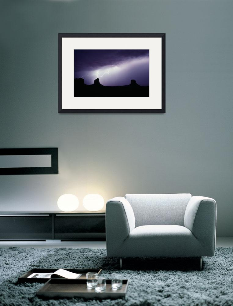 """Monument Valley Storm&quot  (1991) by christopherboswell"