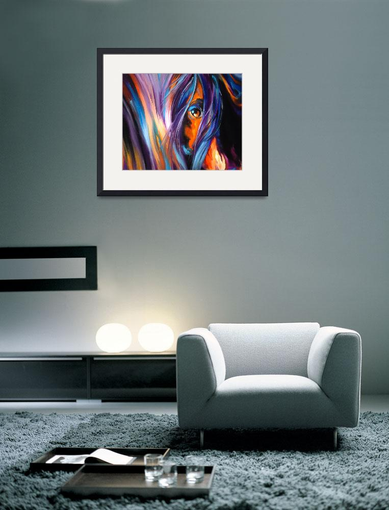 """EQINE EYE by M BALDWIN&quot  by MBaldwinFineArt2006"