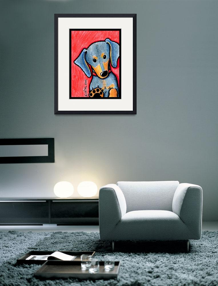 """Doxie Diva&quot  (2005) by KiniArt"