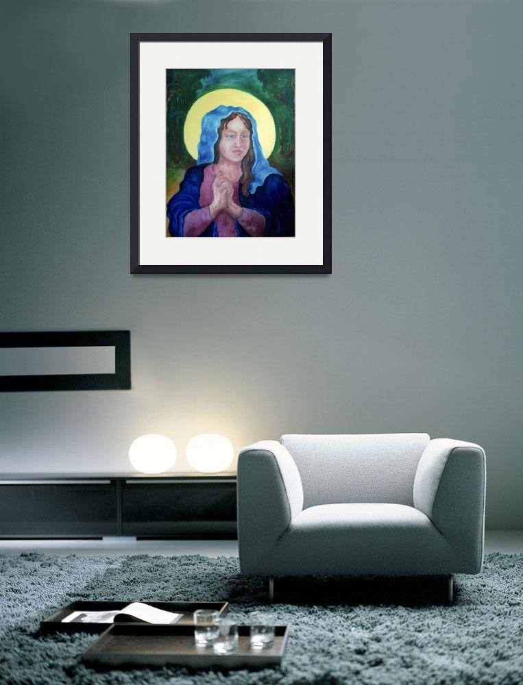 """Virgin Mary&quot  (2005) by woodmaster"
