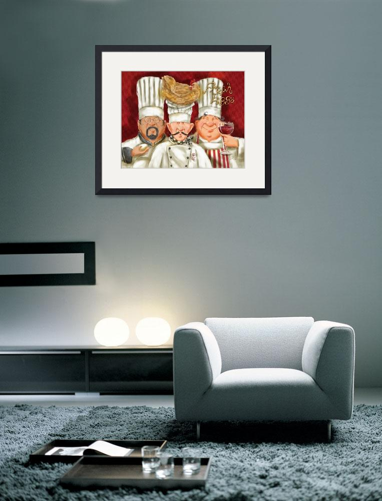 """Chefs with Chicken&quot  (2008) by shariwarren"