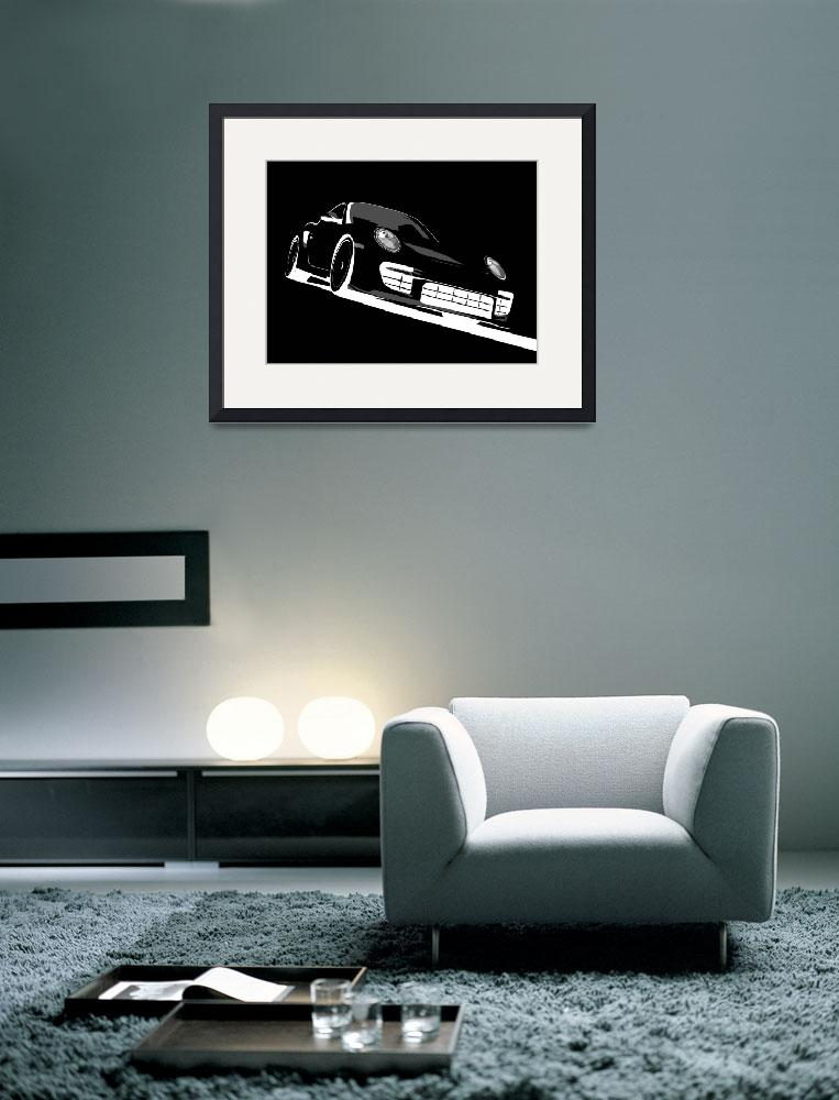 """Porsche 911 GT2 Night&quot  (2010) by ModernArtPrints"
