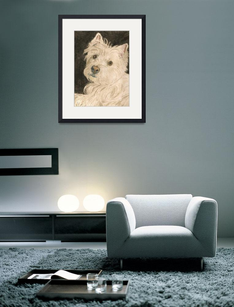 """Katie the West Highland White Terrier&quot  (2010) by mozache"
