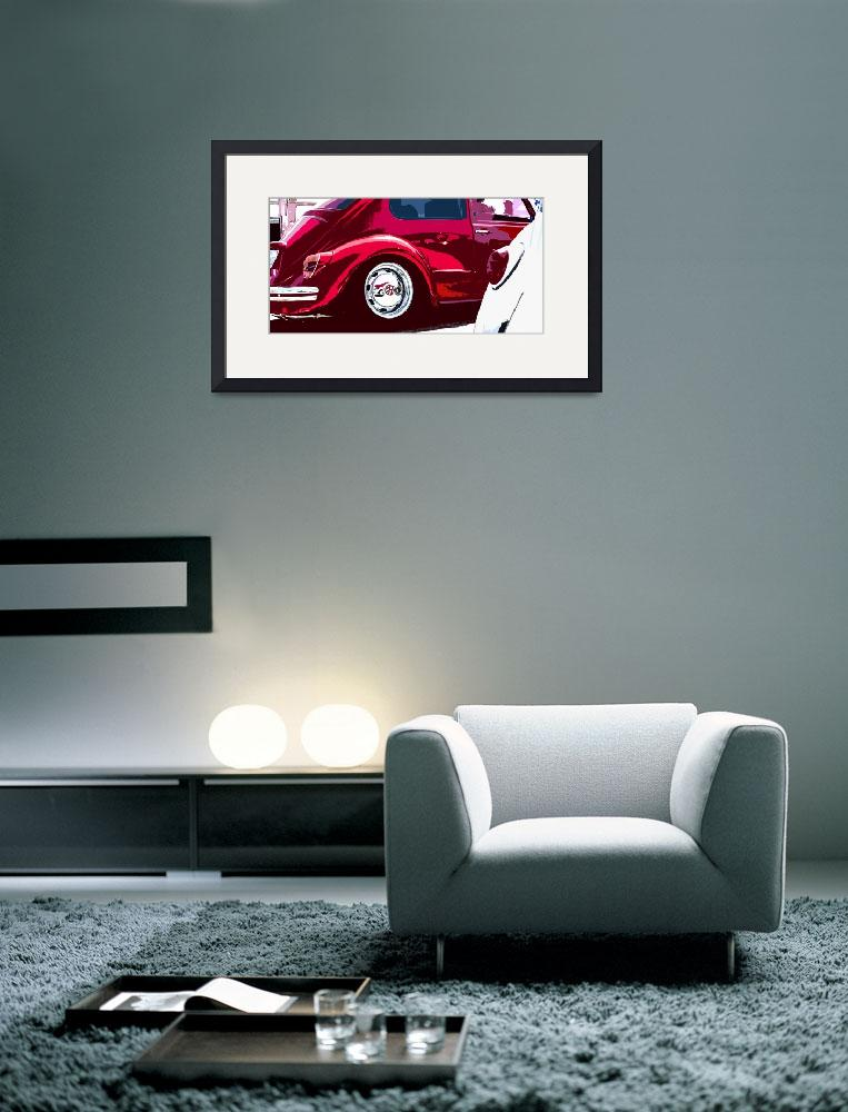 """Red and White VW Beetles Pano&quot  (2012) by studiojanney"