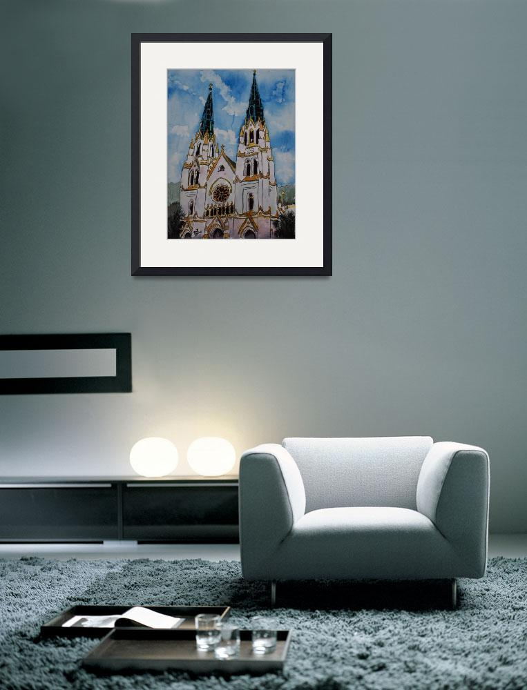 """St John the Baptist Church christian art print&quot  (2009) by derekmccrea"