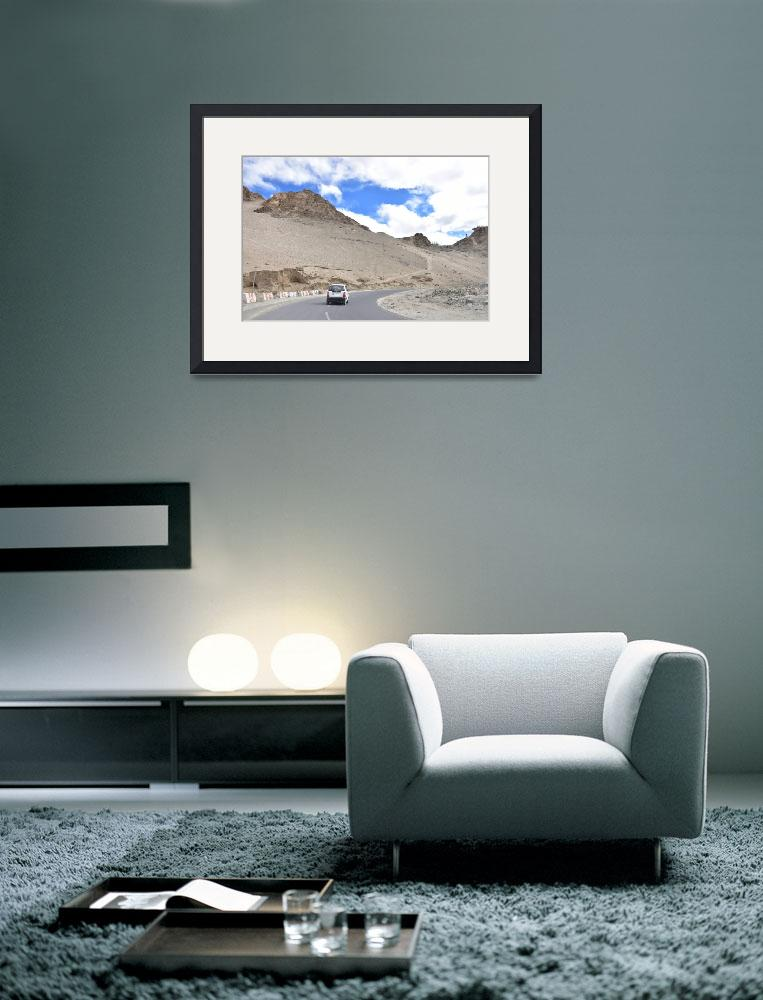 """Mountain View Landscape, Himalaya, Leh Ladakh , In&quot  (2015) by shyamal"