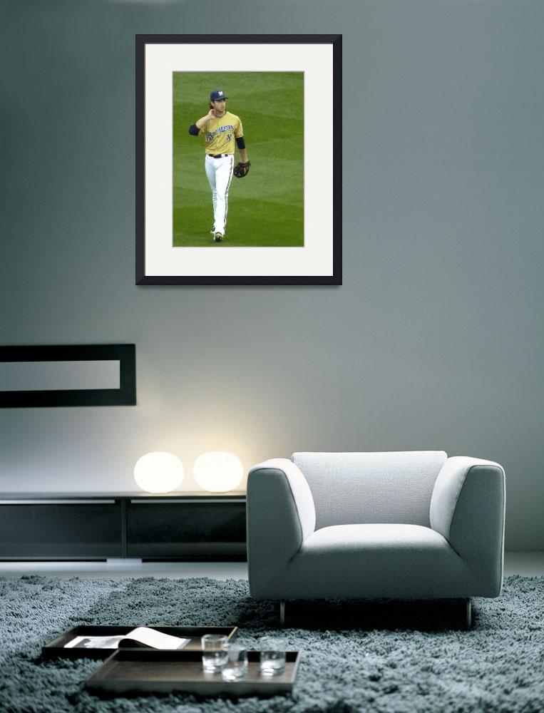 """Ryan Braun in left field&quot  (2011) by LuvDaPack"