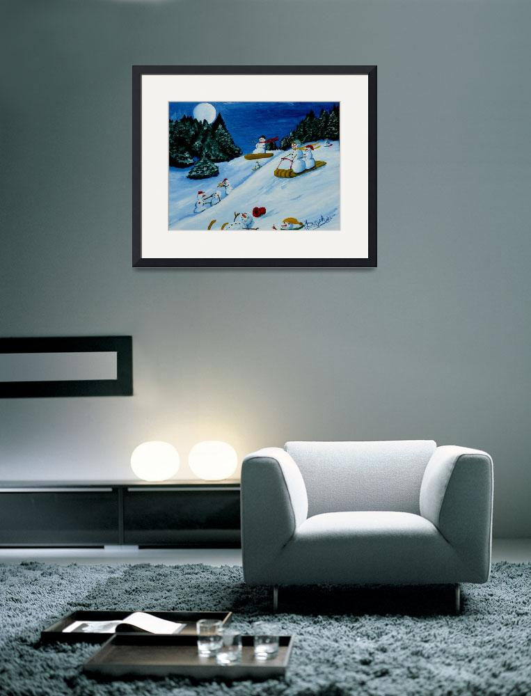 """Snowmans Winter Sports&quot  (2010) by anthonydunphy"
