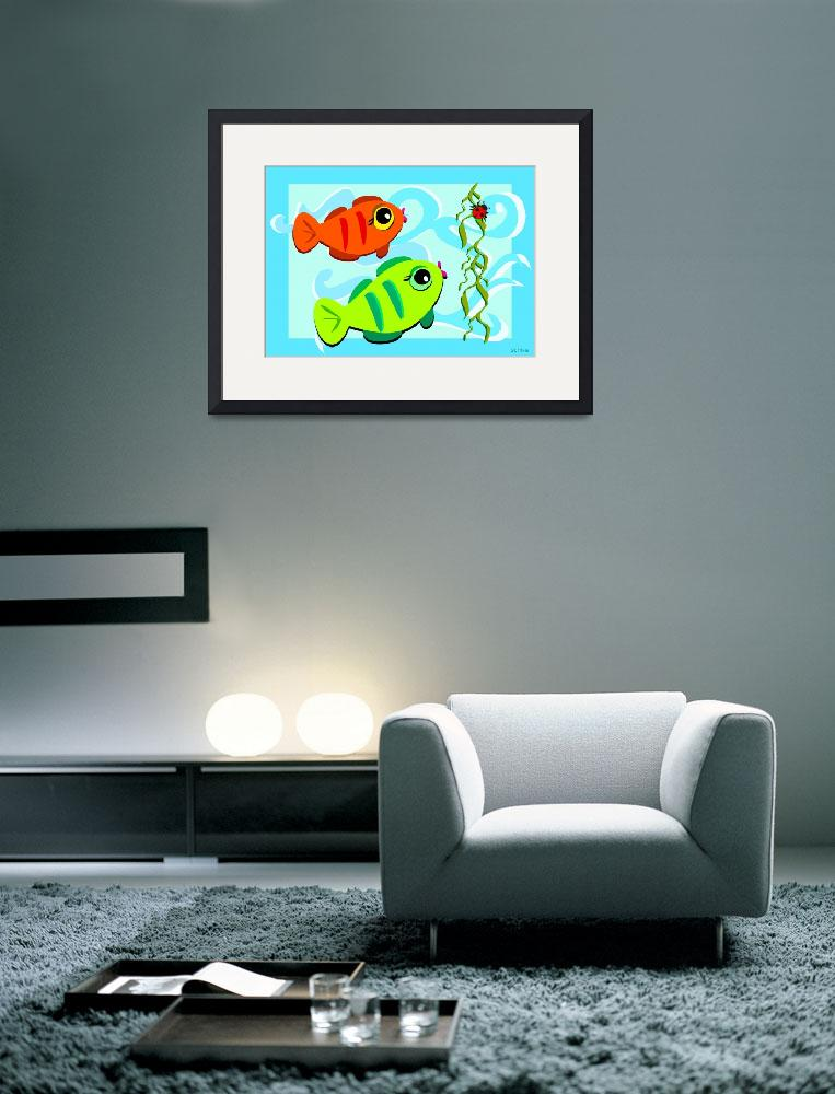"""Curious Fish Observing a Ladybug&quot  (2011) by theblueplanet"