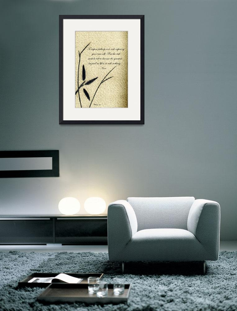 """Zen Sumi 4m Antique Motivational Flower Ink&quot  (2011) by Ricardos"