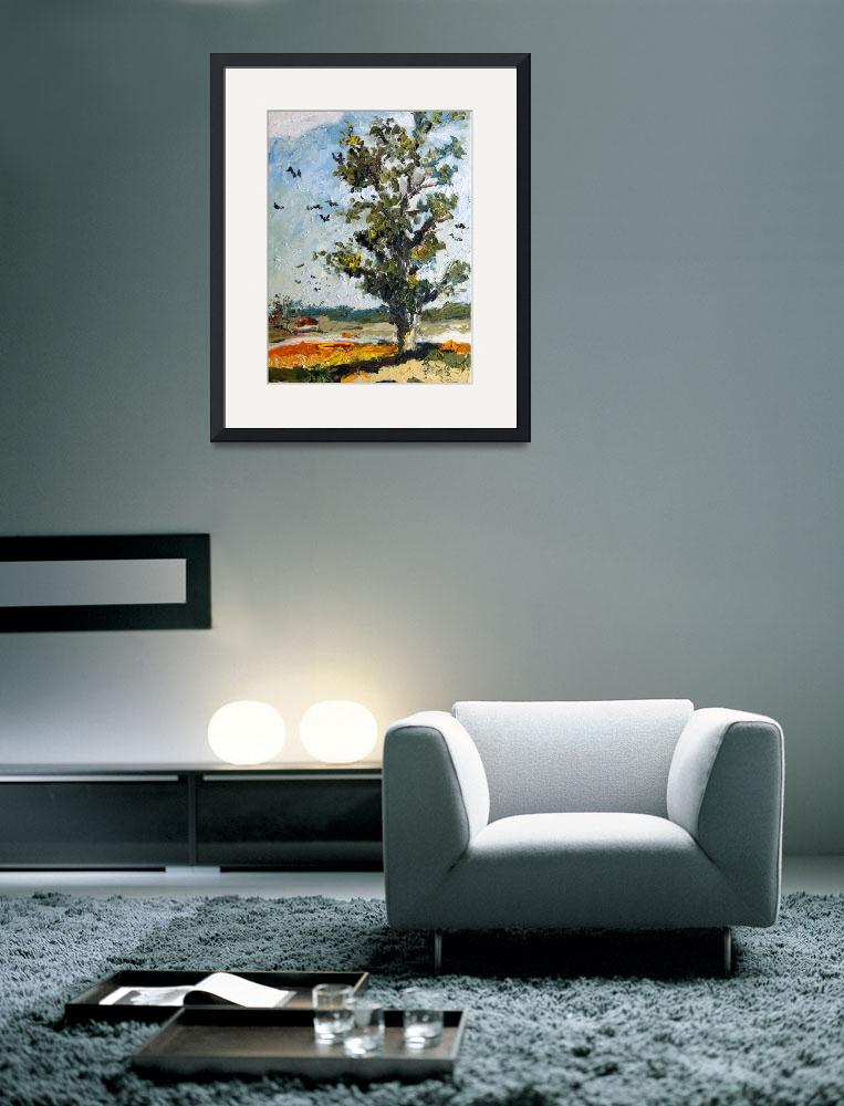 """A Tree Along My Way Oil Painting Ginette Callaway&quot  (2009) by GinetteCallaway"