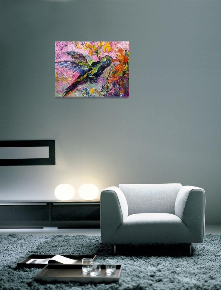 """Hummingbird Oil Painting by Ginette Callaway&quot  (2010) by GinetteCallaway"