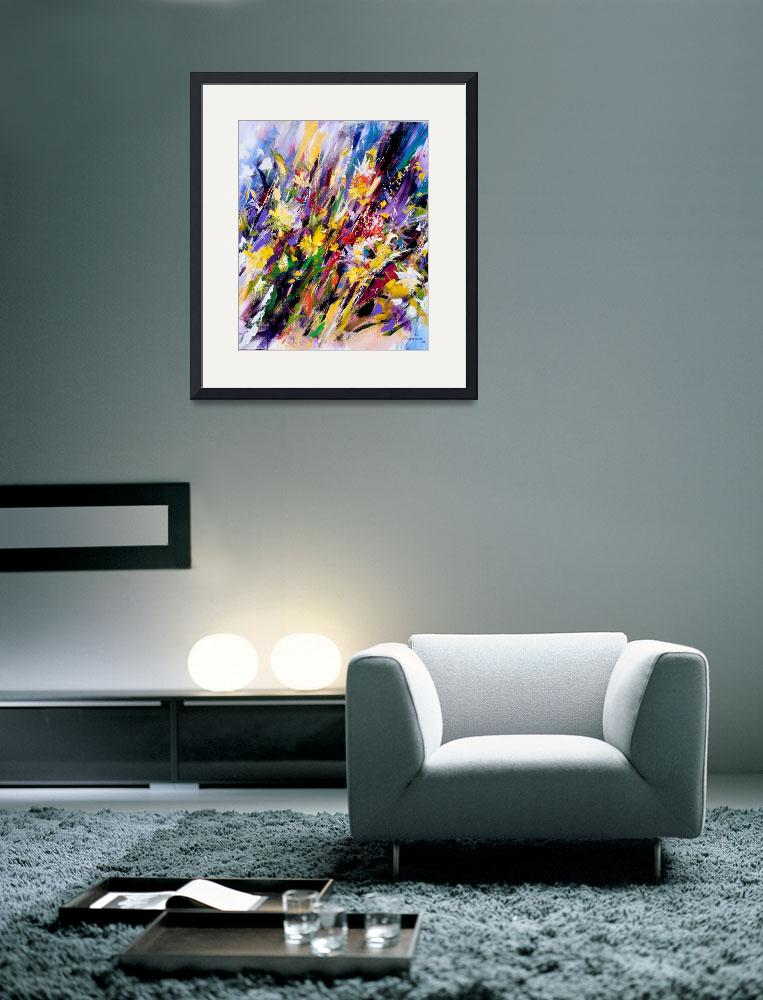 """Abstract flower painting&quot  (2008) by zampedroni"