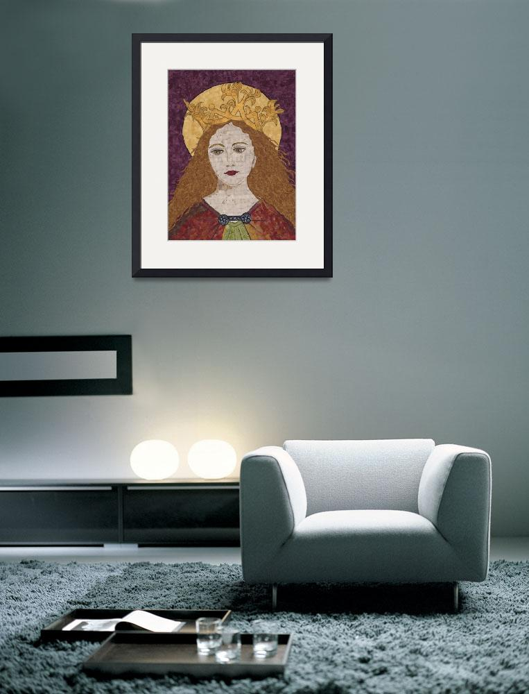 """""Saint Catherine of Alexandria""  fabric mosaic&quot  (2006) by RemnantWorks"