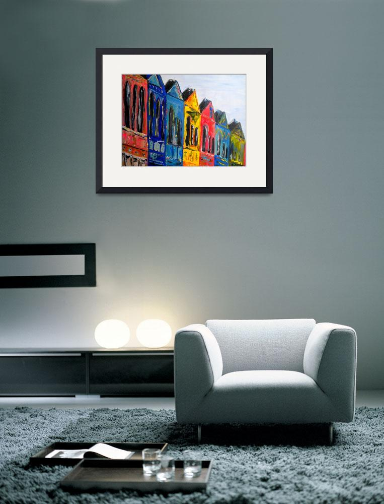 """Rainbow Row&quot  (2008) by brittmillerart"