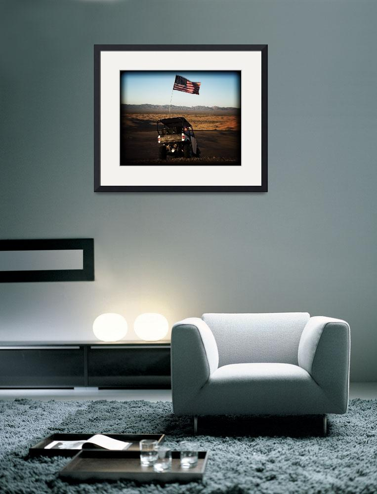 """American Flag and Dune Buggy&quot  (2010) by johncorney"