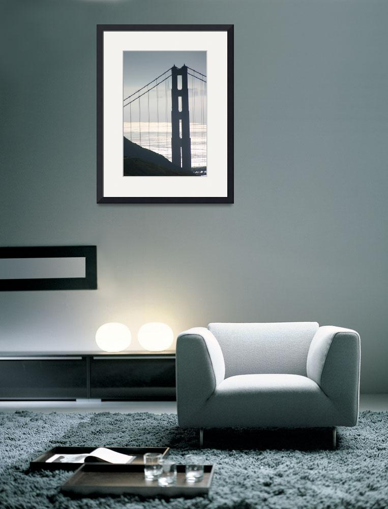 """Golden Gate Bridge Silver Morning&quot  (2002) by sfbayimages"