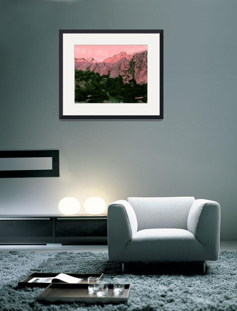 """Pink Mountain&quot  (2012) by suemari"